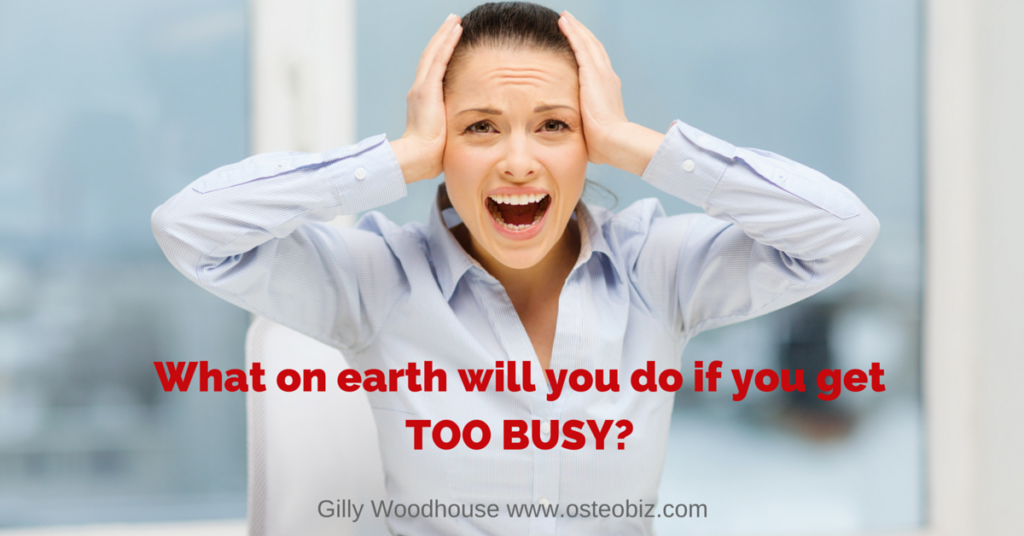 The fear of being TOO BUSY!