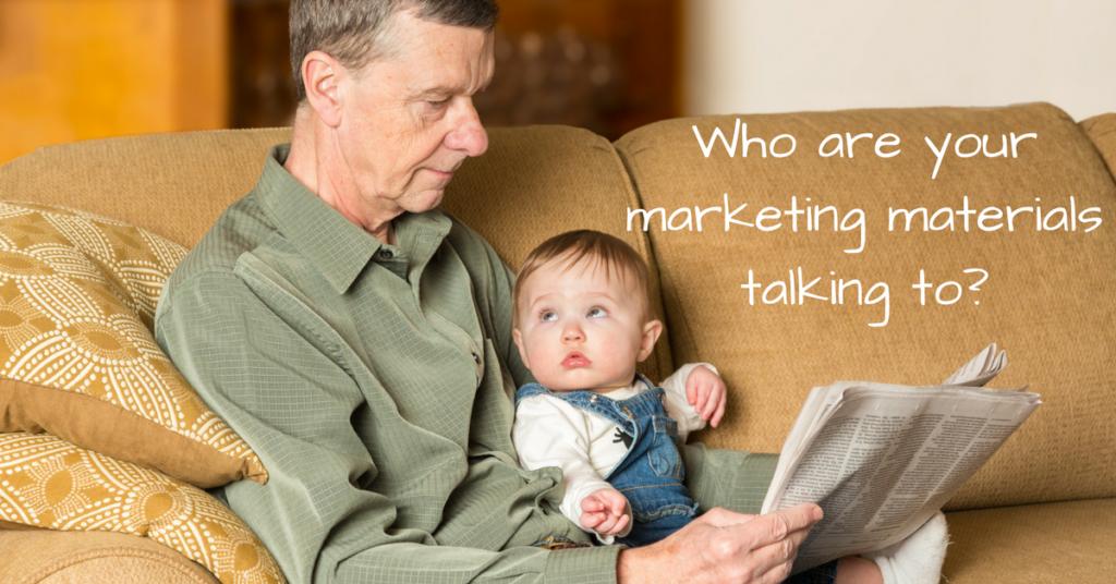 Marketing materials and basic psychology!